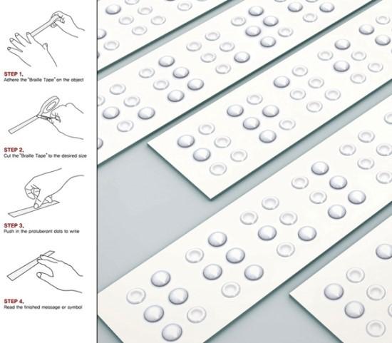 시각디자인과 아이디어 참고자료 시각영상디자인과 Quot 시각장애인을 생각하는 점자 테이프 Braille Tape