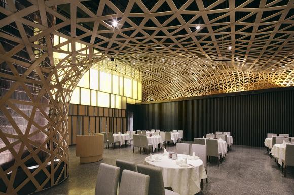 대나무를 이용한 차이니스 레스토랑 인테리어디자인 Tang Palace Atelier Feichang