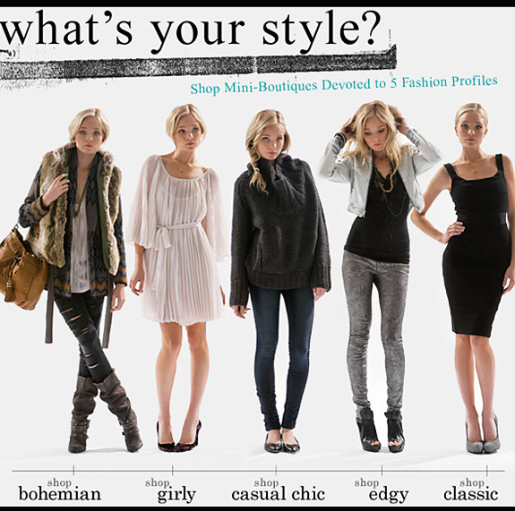 Fashion style categories list