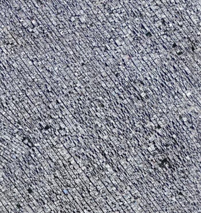 콘크리트가 아닙니다.뉴델리의 항공사진