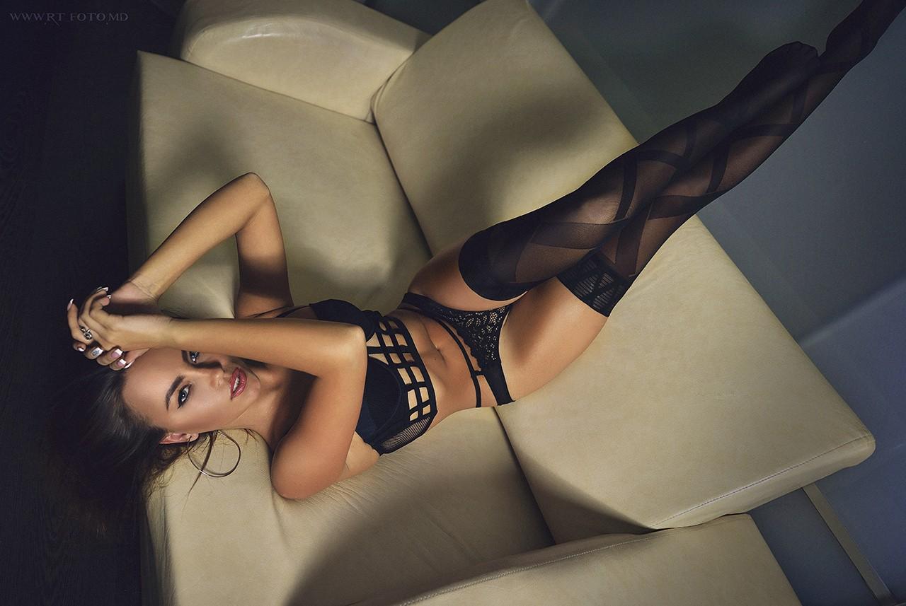 hot mood girl in lingerie