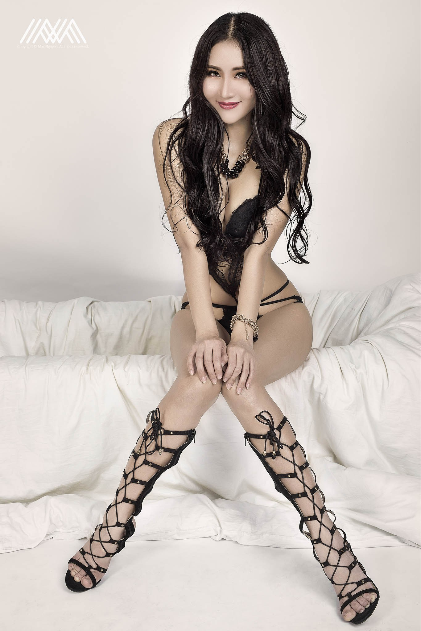 hot Asian in sexy lingerie